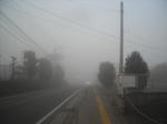 霧の朝(2009年12月1日)