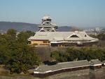 熊本市役所展望所から熊本城を望む
